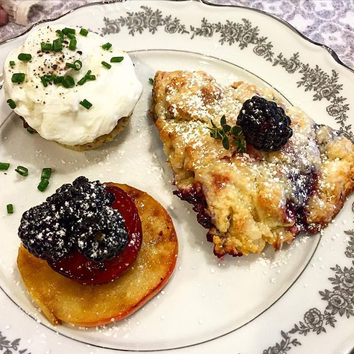Lemony Thyme Blackberry scones