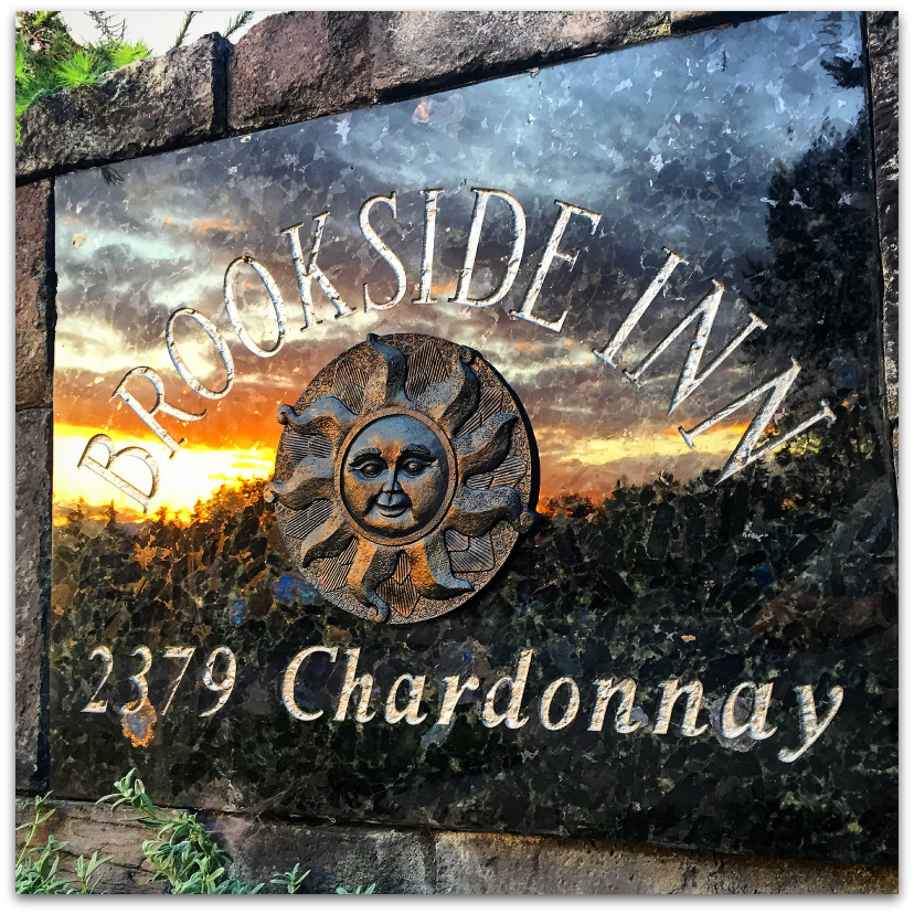 Brookside Inn Hotel 2370 Chardonnay Sign